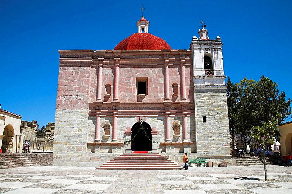 Iglesia de San Pablo, San Pablo Church, San Pablo Villa de Mitla, Mitla, near Oaxaca, Oaxaca State, Mexico