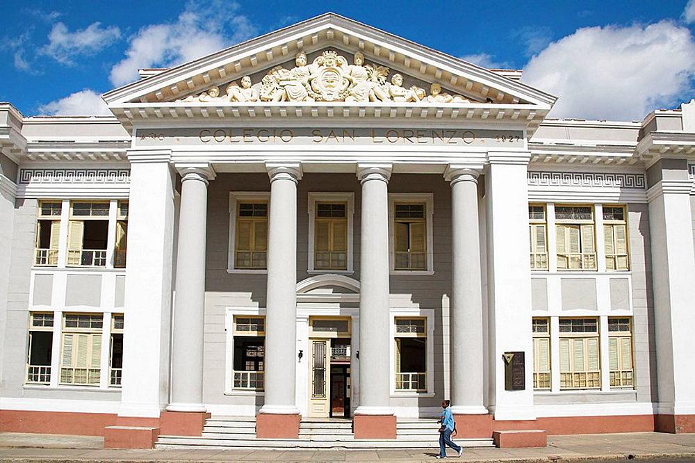 Colegio San Lorenzo, Parque Jose Marti, Plaza de Armas, Cienfuegos, Cienfuegos Province, Cuba