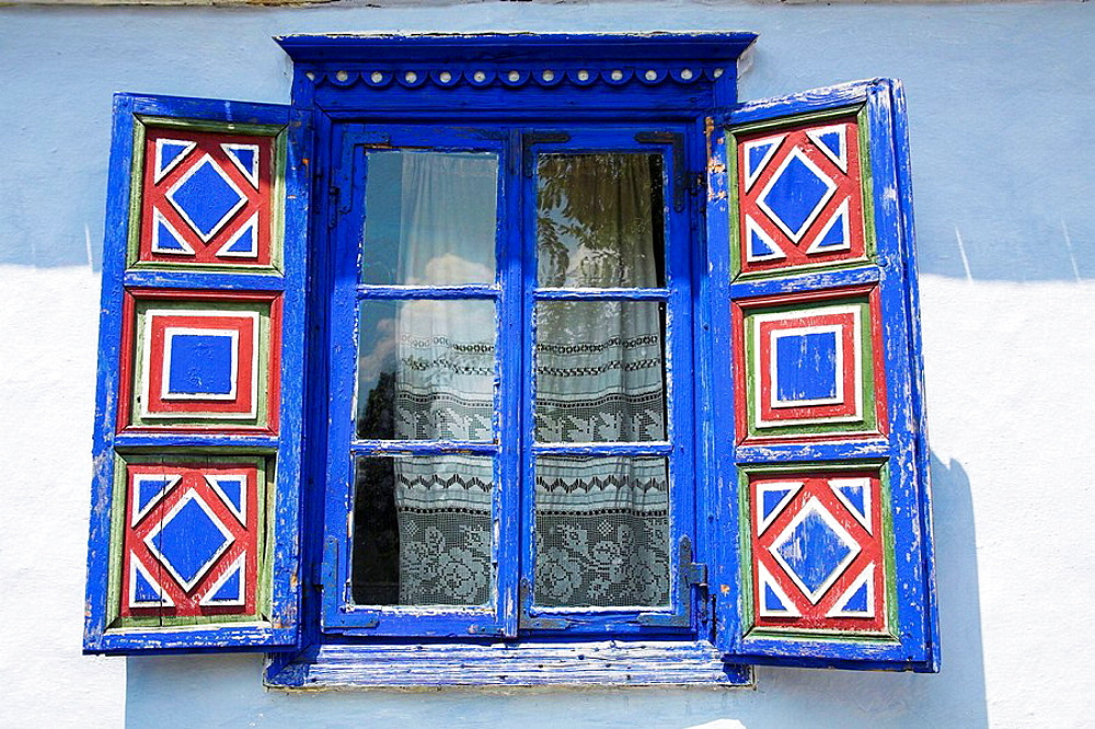 Window of building, Muzeul National al Satului Dimitrie Gusti, Ethnographic Village Museum, Bucharest, Romania - 817-224602