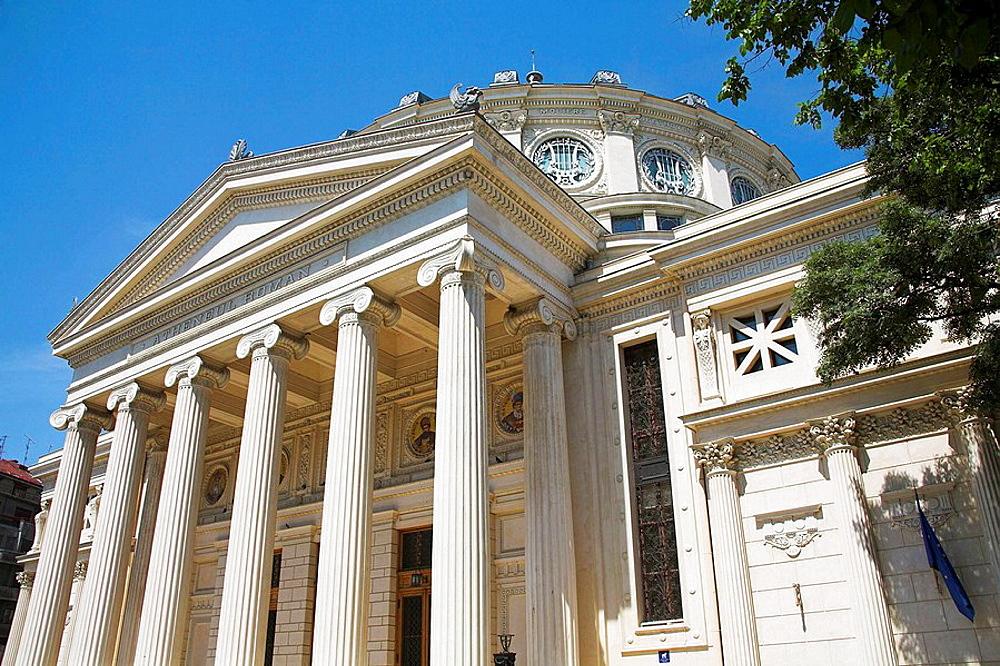 Romanian Atheneum, Atheneul Roman, Str Benjamin Franklin, Bucharest, Romania