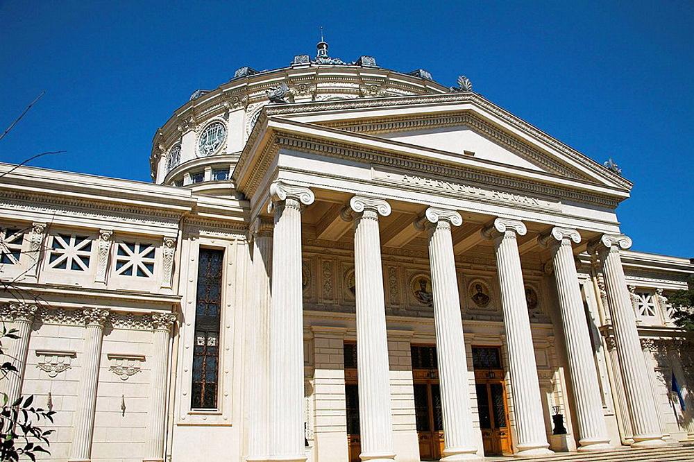 Romanian Atheneum, Atheneul Roman, Str Benjamin Franklin, near Calea Victoriei, Bucharest, Romania