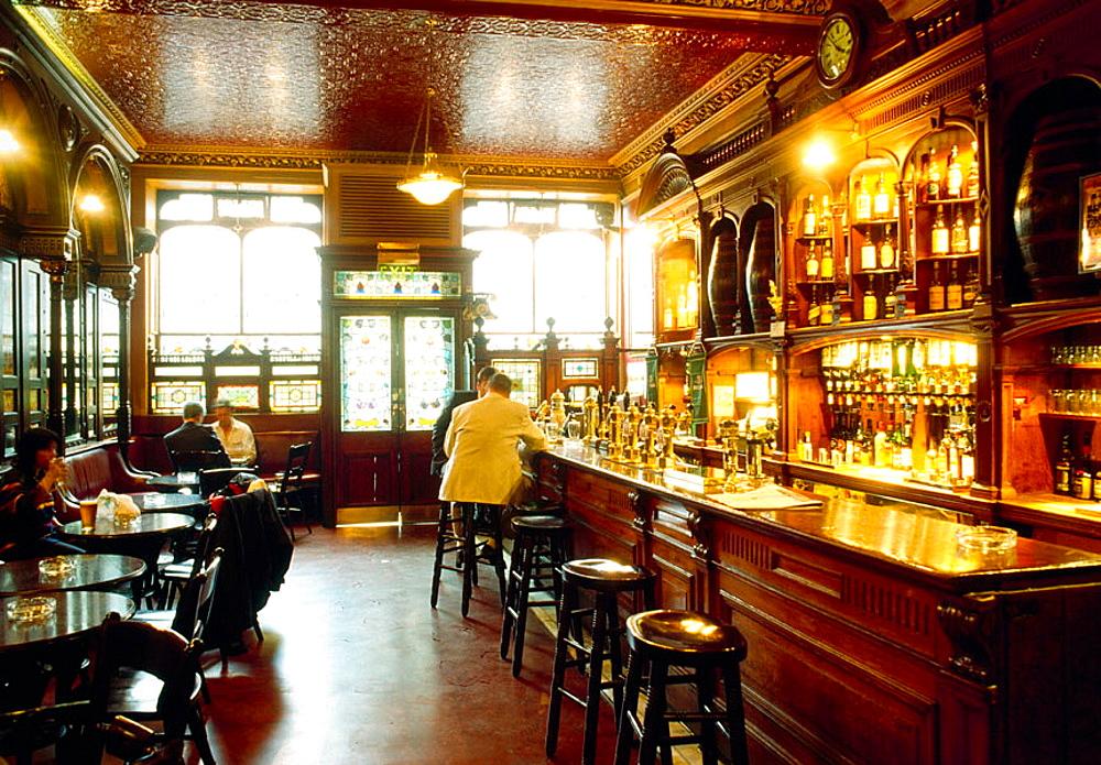The inside of Bennets bar, Edinburgh, Scotland, UK