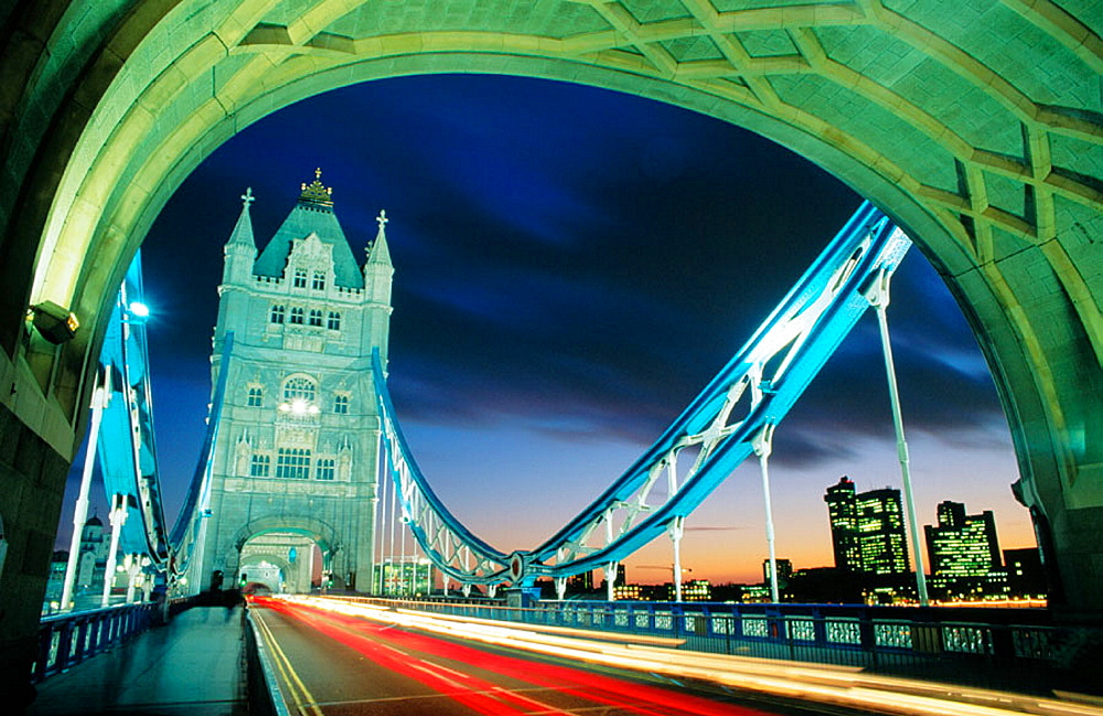 Tower Bridge, London, England - 817-2264