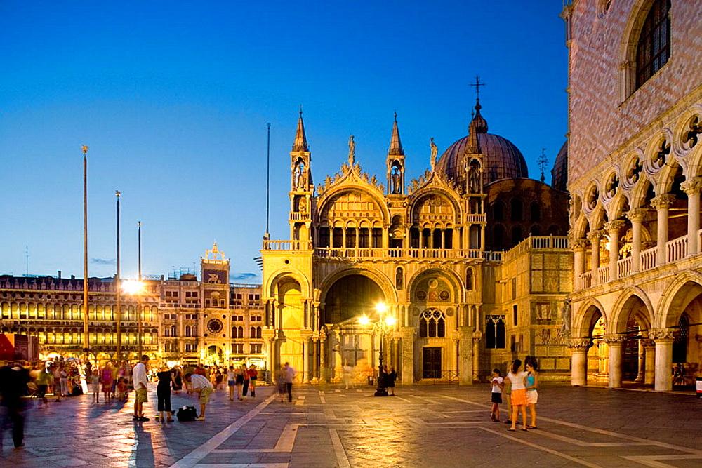 The  Basilica di San Marco from Piazzetta (square) San Marco, Venice, Italy