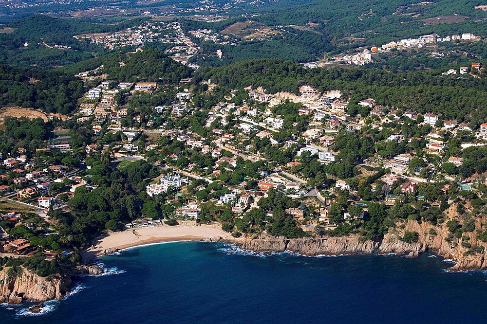 Spain, Catalonia, Girona, La Selva, Costa Brava, Santa Barbara, Cala de Sant Francesc, Blanes