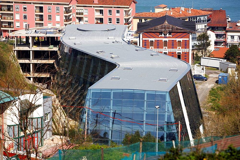 Foundation Cristobal Balenciaga building, Guetaria, Guipuzcoa, Basque Country, Spain
