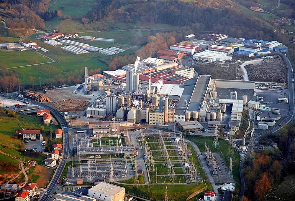 Papelera Guipuzkoana de Zicunaga (paper mill), Hernani, Gipuzkoa, Basque Country, Spain