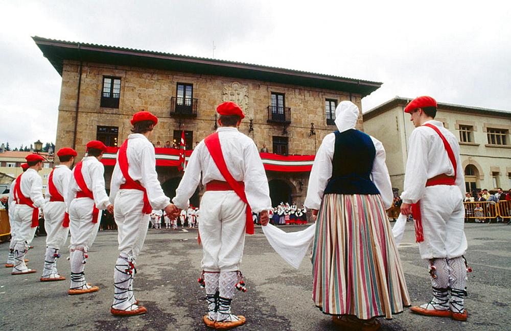 Folk dance, Legazpi, Guipuzcoa, Euskadi, Spain
