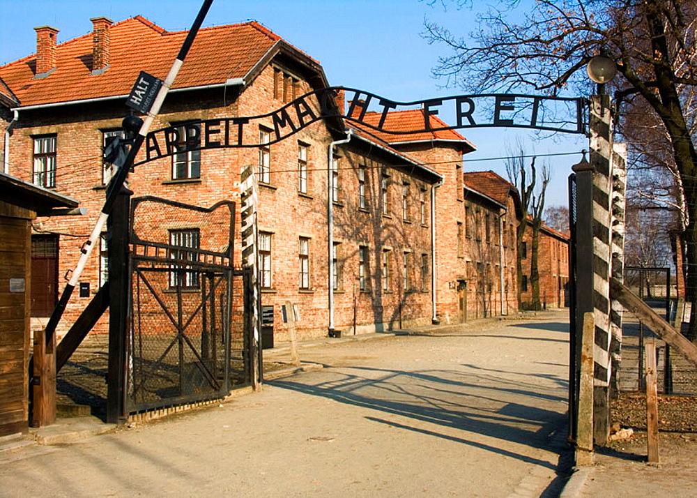 Nazi Concentration Camp in Auschwitz Poland