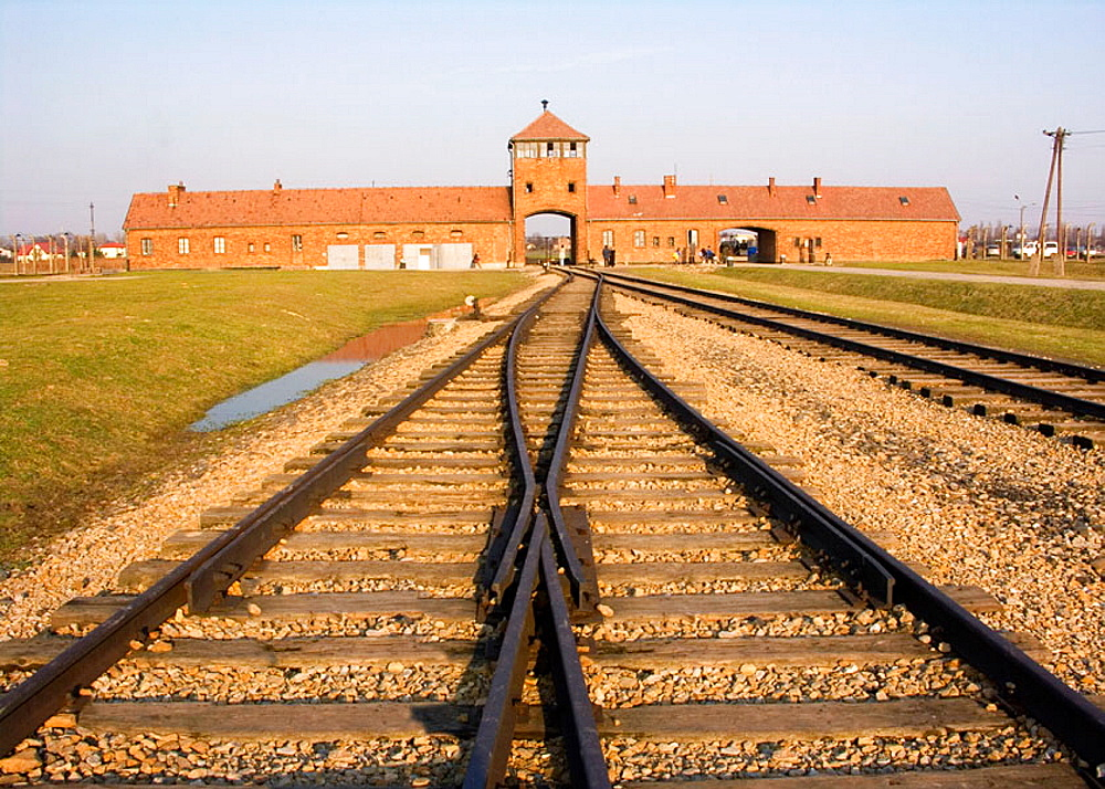 Nazi Concentration Camp in Auschwitz-Binkenau Poland