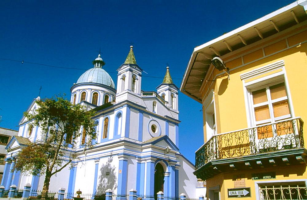 Iglesia de Santa Barbara in Quito, Ecuador