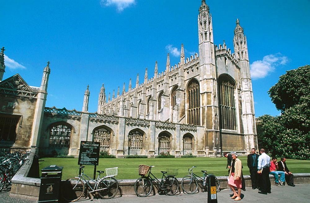 Kings College Chapel, Cambridge, England, UK.