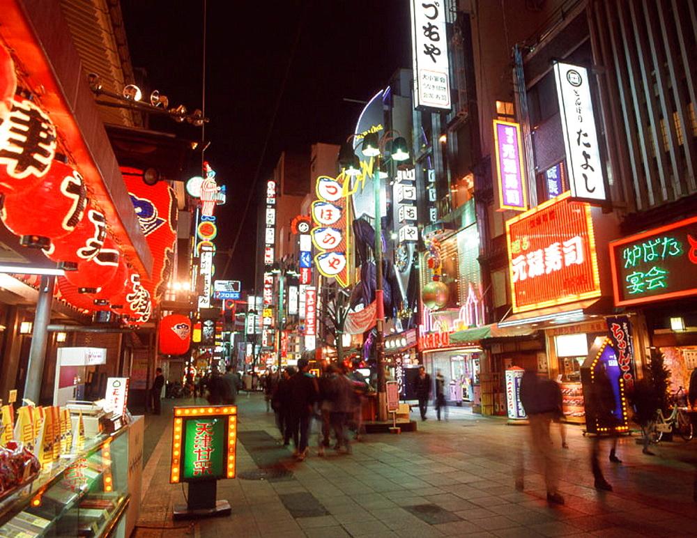 Dotomburi-dori, nightlife, Minami-ku, Osaka, Japan