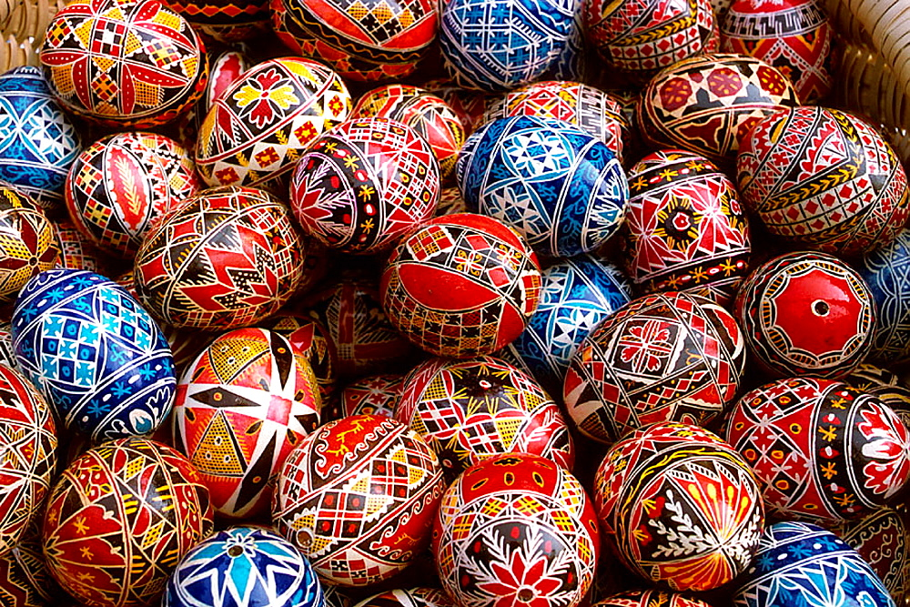 Painted eggs, Bucharest, Romania - 817-236858
