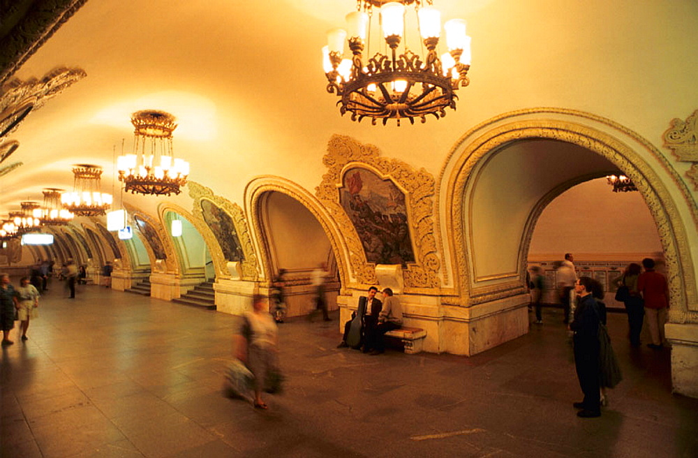 Subway station, Moscow, Russia