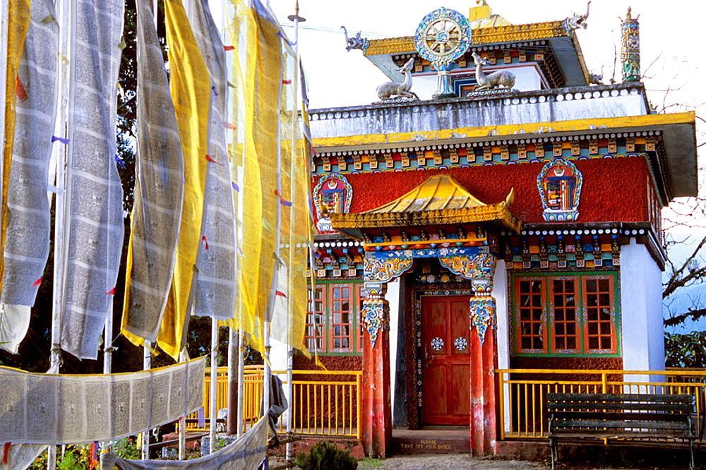 Pemayangtse Gompa Tibetan buddhist monastery, Sikkim, India.