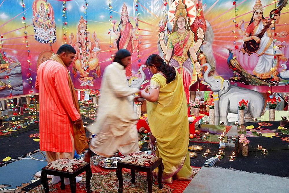 Mauritius, Triolet, Divali hindu festival, religious ceremony