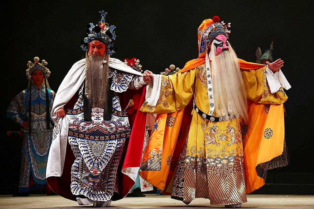 China, Shanghai, Yifu Theatre, chinese kunqu opera performance - 817-239390