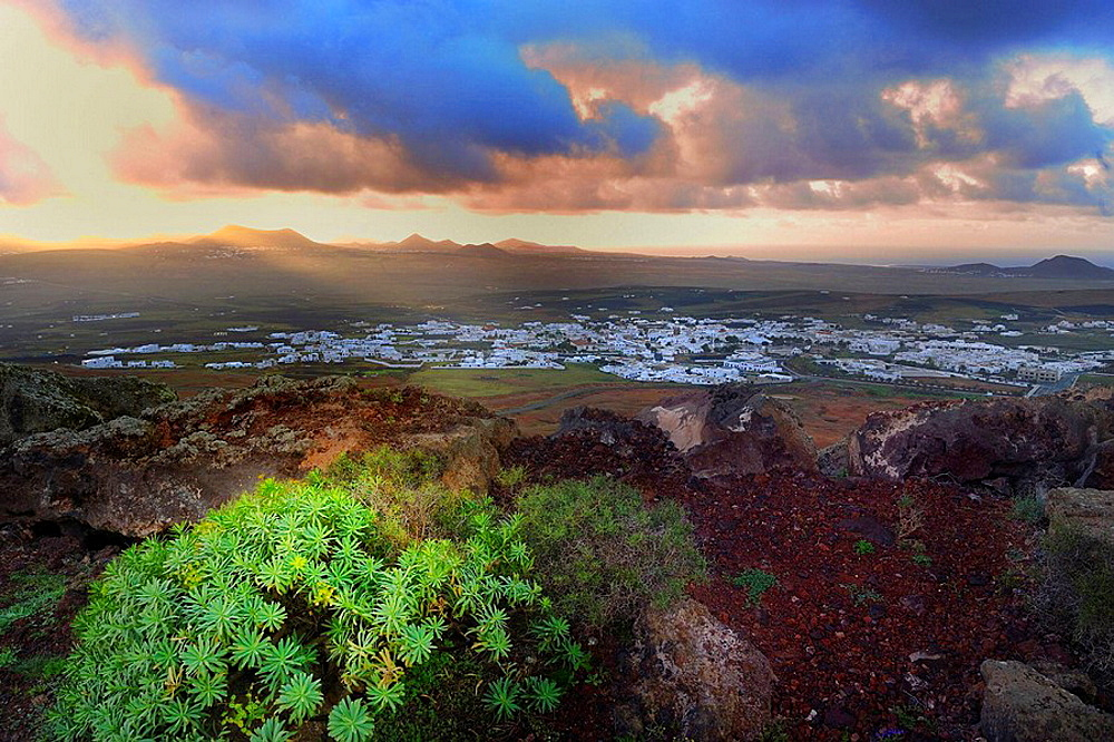 View of village, Lanzarote, Canary islands, Spain - 817-24015