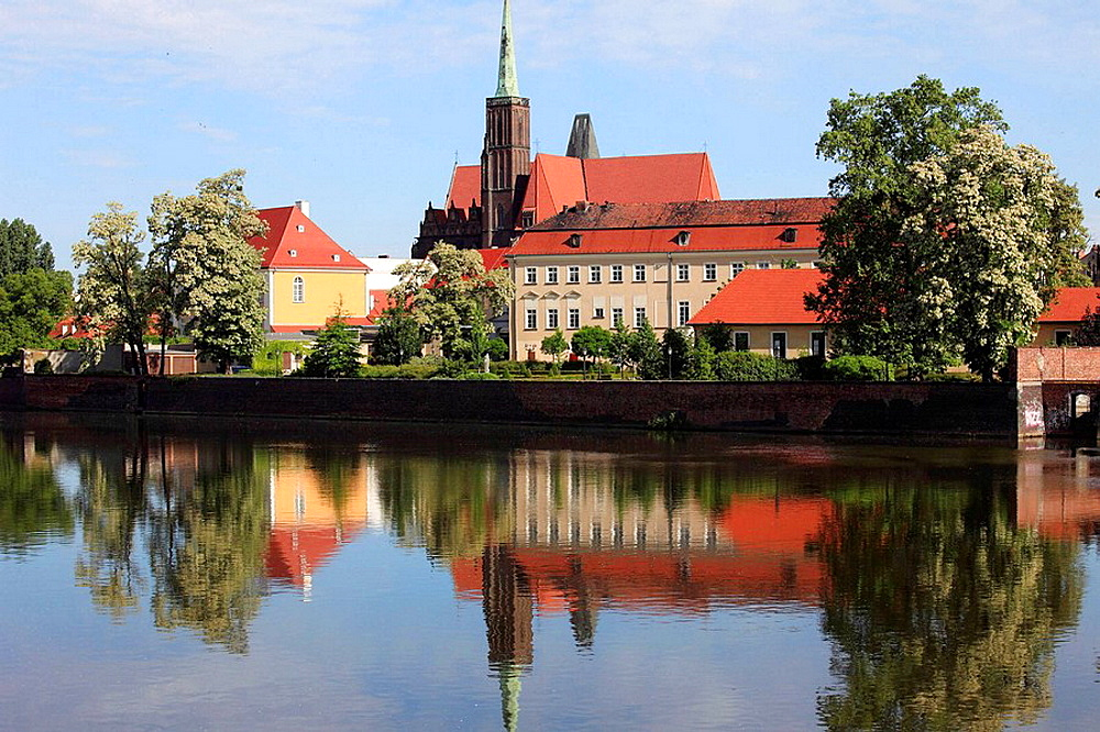 Poland, Wroclaw, Cathedral Island, Odra River