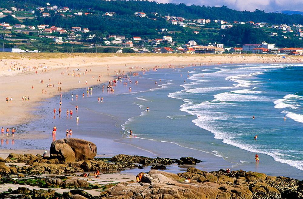 La Lanzada beach, O Grove, Pontevedra province, Galicia, Spain