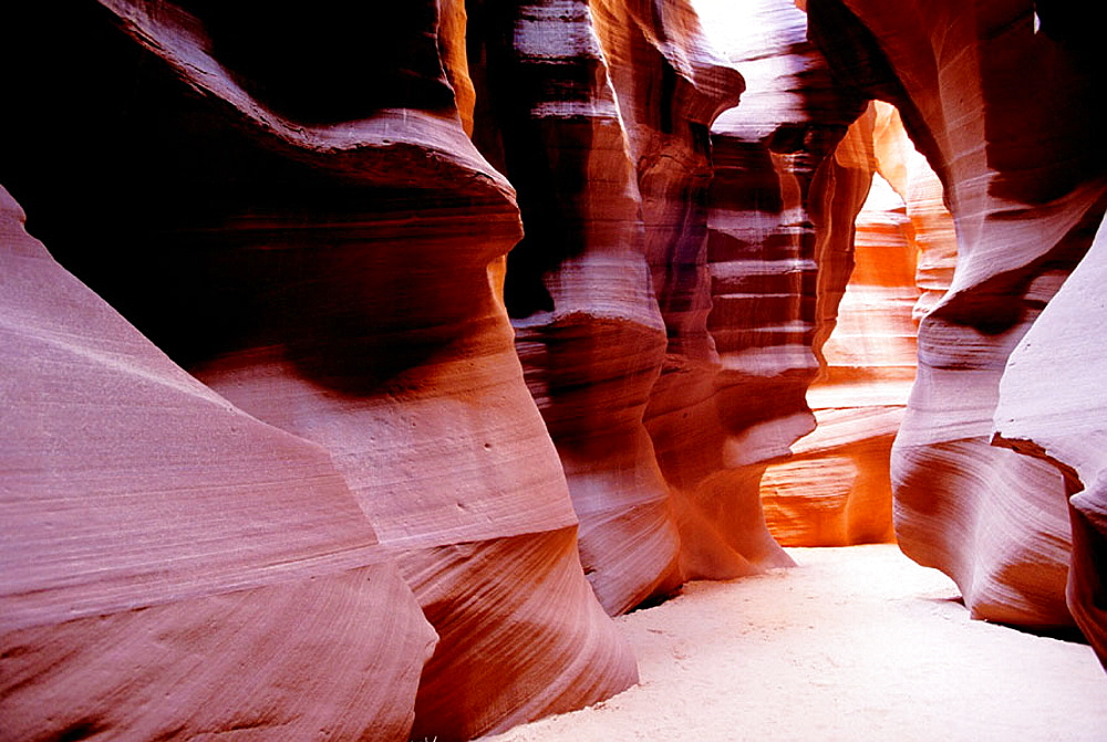 Antelope Canyon, corkscrew slot canyon carved by rain and wind, Arizona, USA