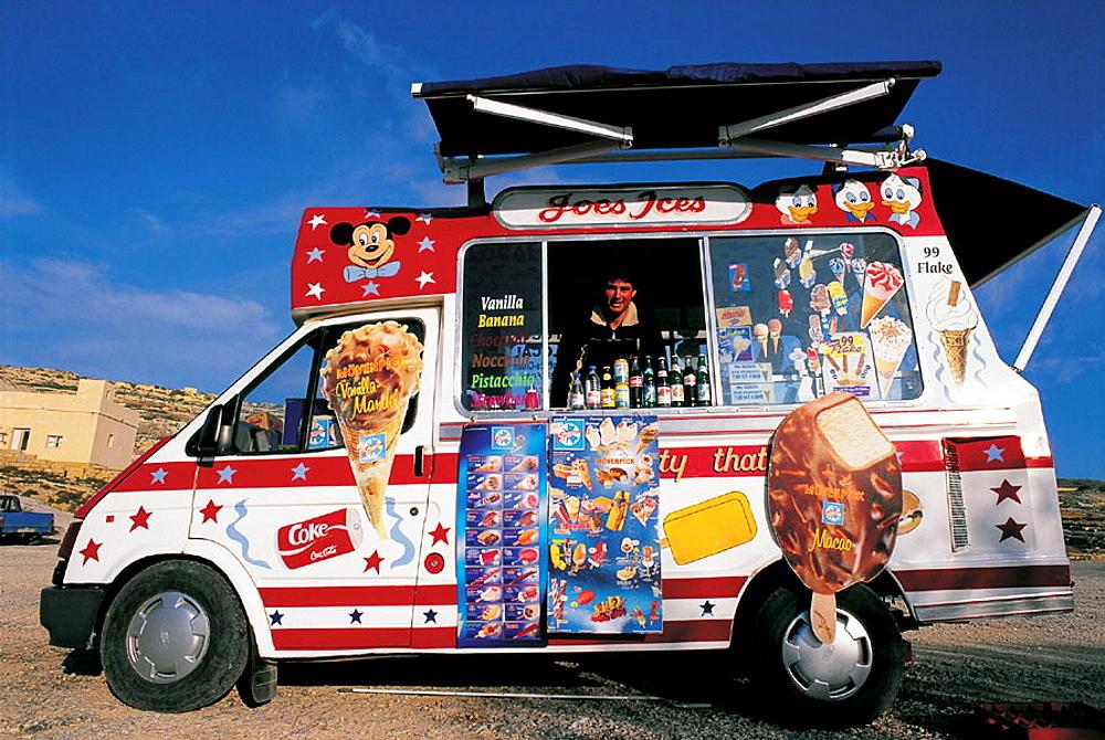 The mobile cafe, Gozo, Malta