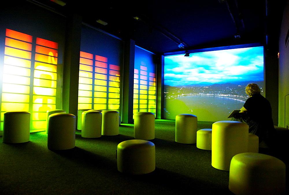 Audiovisual, Kutxaespacio, Museo de la Ciencia, Donostia, San Sebastian, Gipuzkoa, Euskadi, Spain.