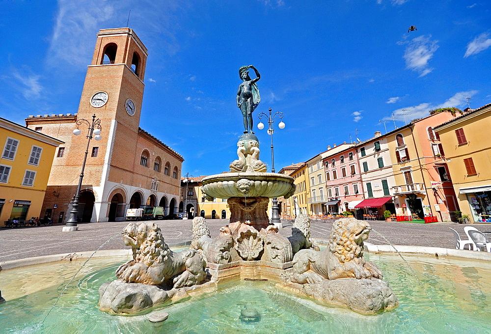 Italy, Fano, Fountain