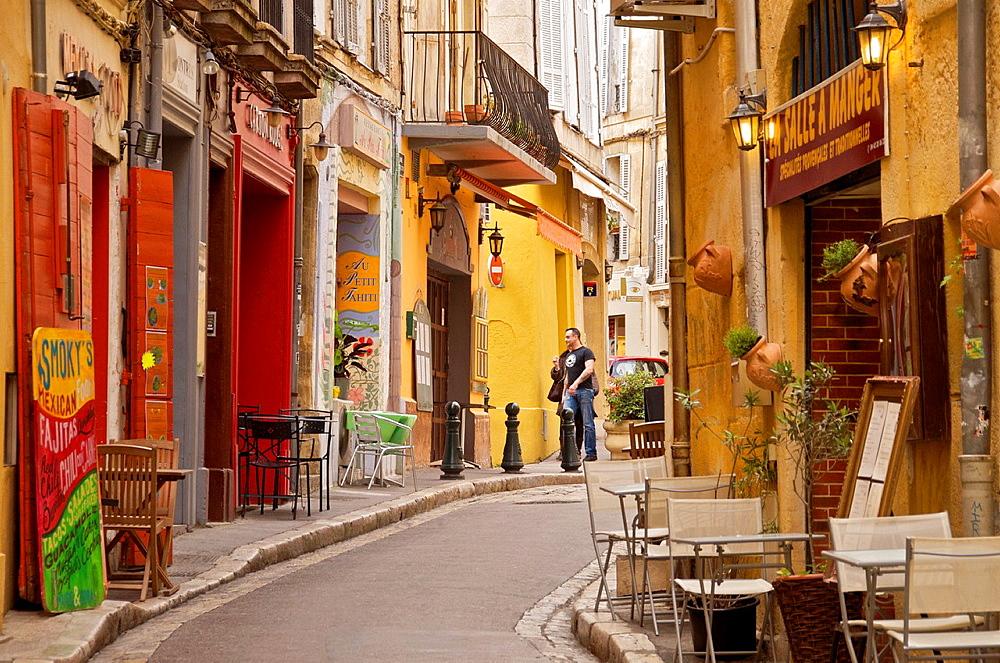 a colored street Old Aix Aix en Provence 13 France