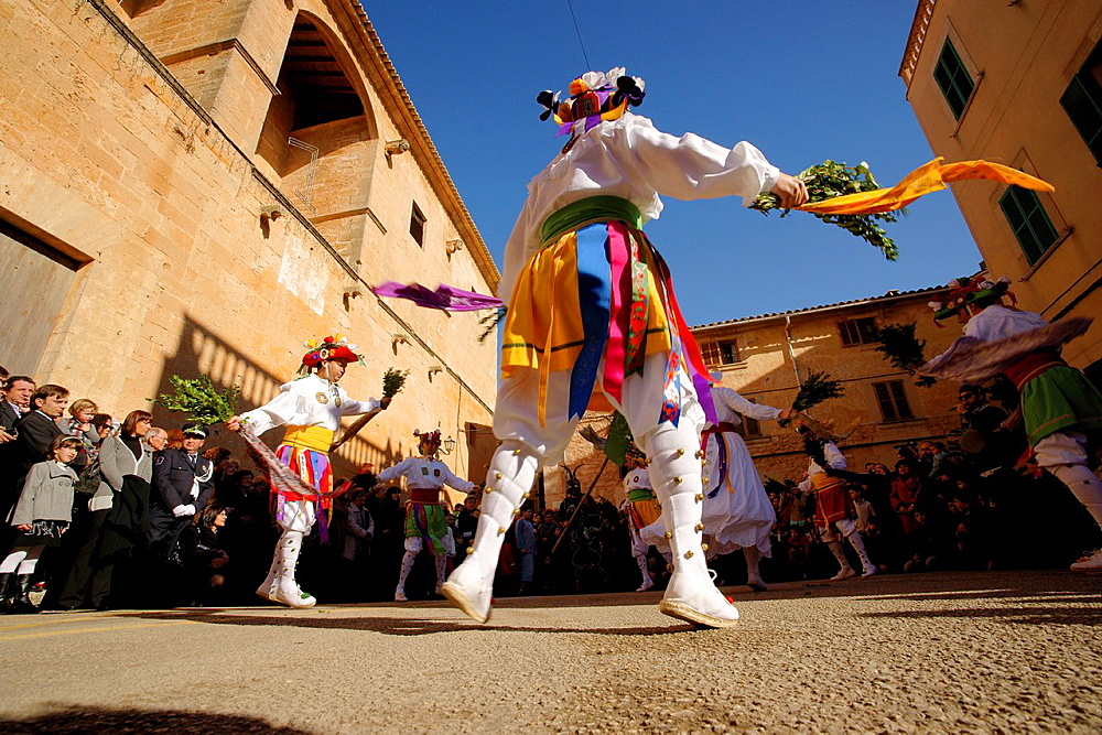 Dance of Cossiers Algaida Es Pla Mallorca Balearic Islands Spain