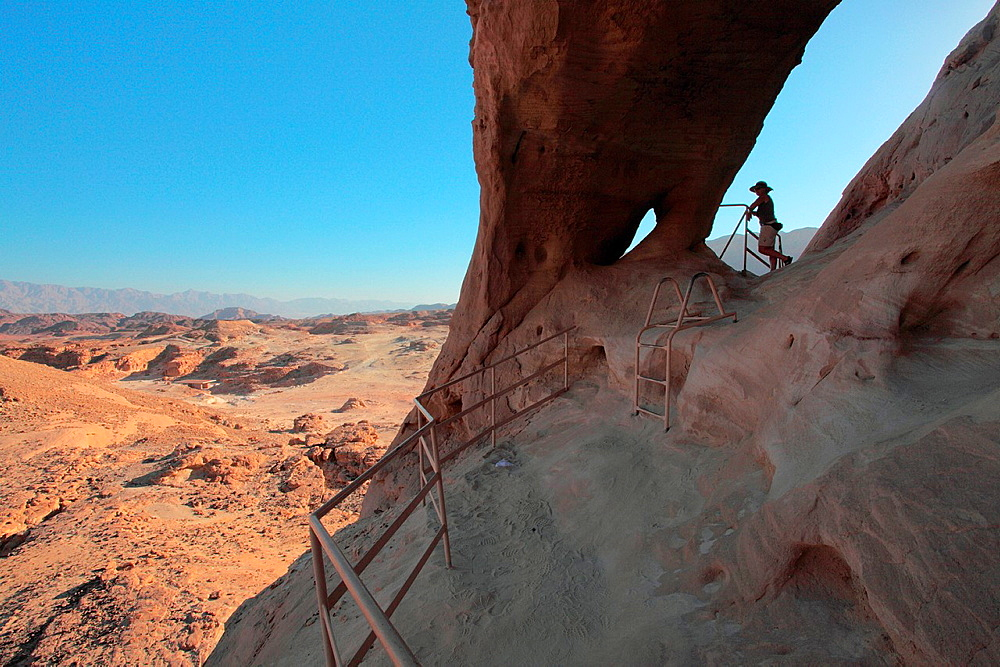 Israel Eilat Mounatains Timna Valley Park Place of egyptian copper mines The Arches