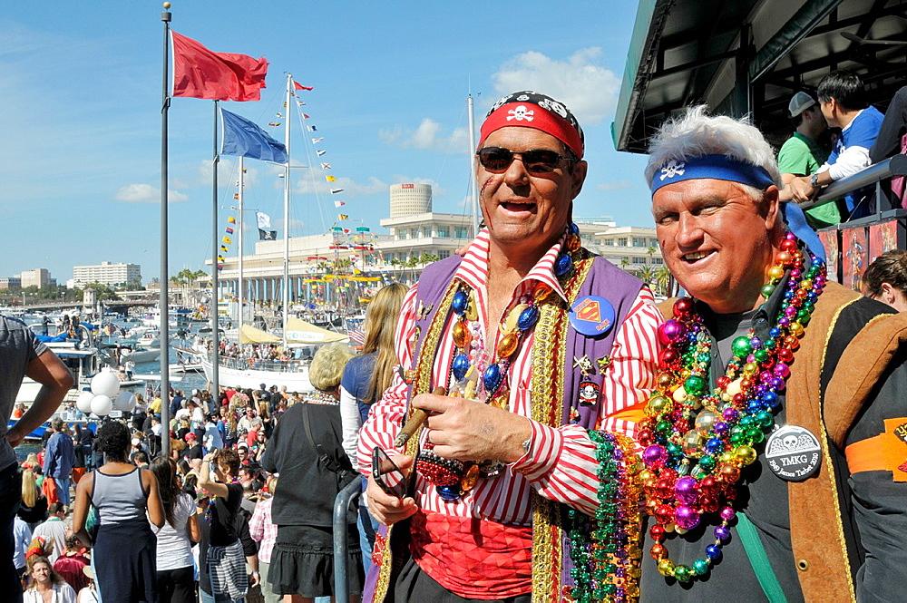 Costumed participants in annual Tampa Gasparilla Pirate Festival Florida