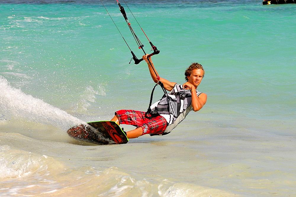 Kitesurfing Jabberwock Beach St Johns Antigua Caribbean Cruise NCL