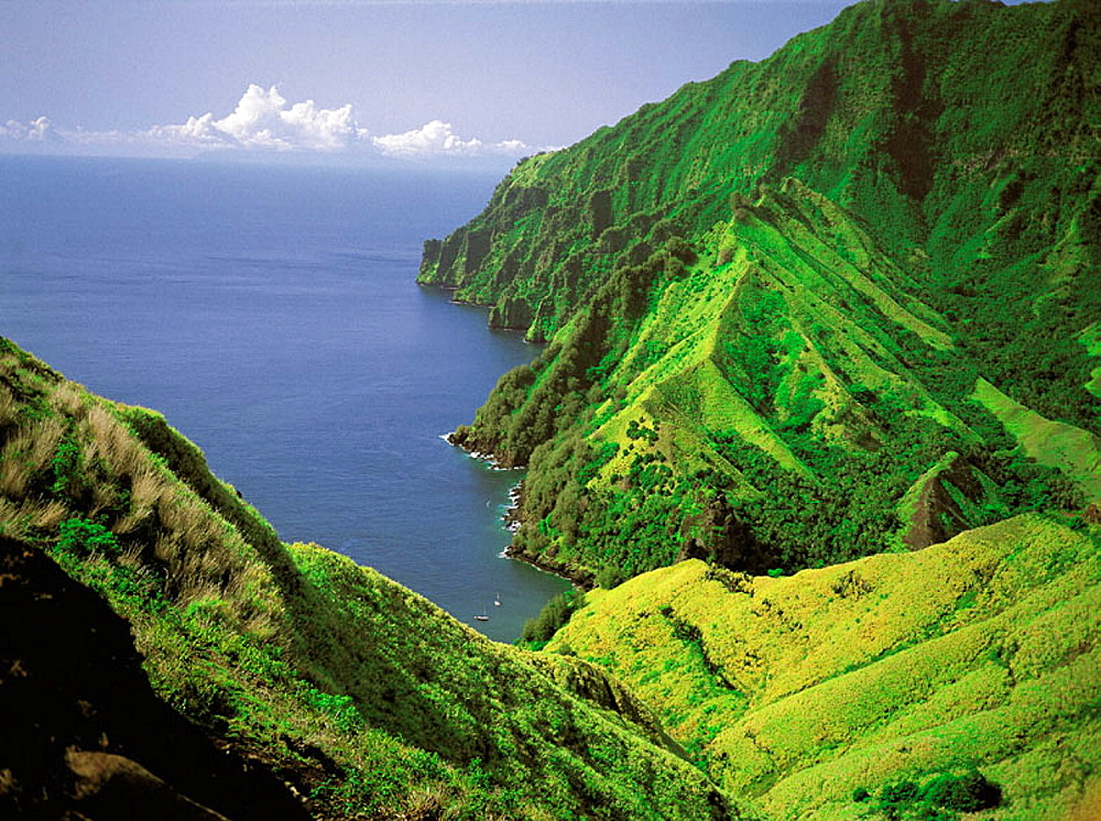 Landscape in Fatu Hiva, Marquesas Islands, French Polynesia
