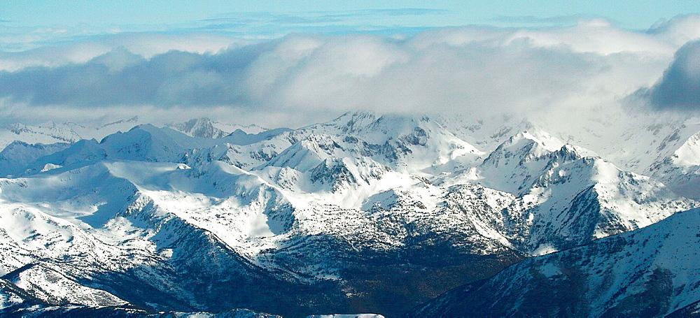 Andorra Pyrenees, aerial view