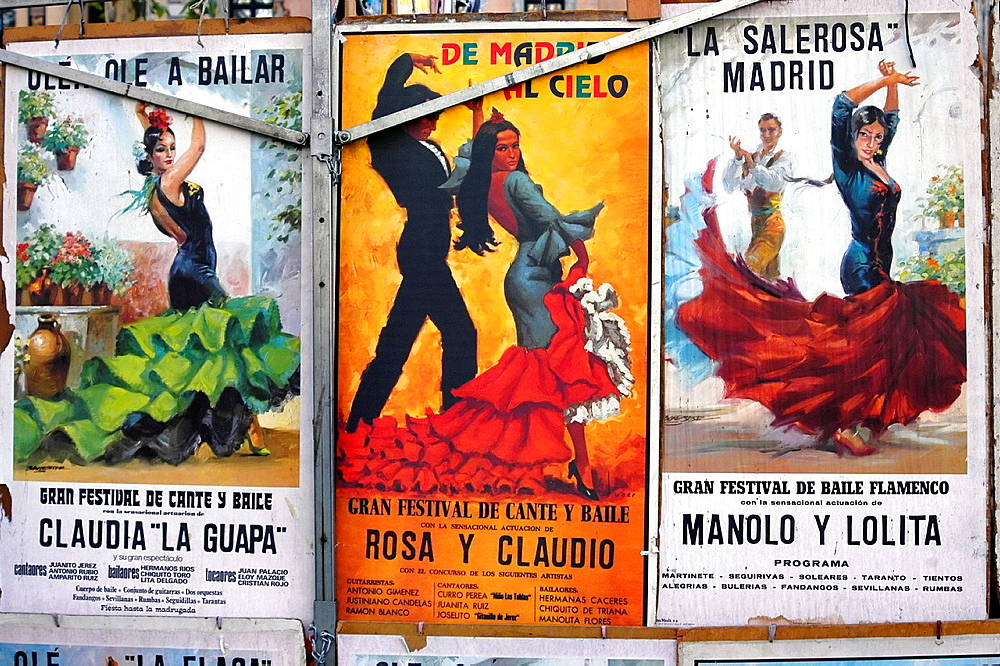 Classical Bull fighting posters Madrid Spain