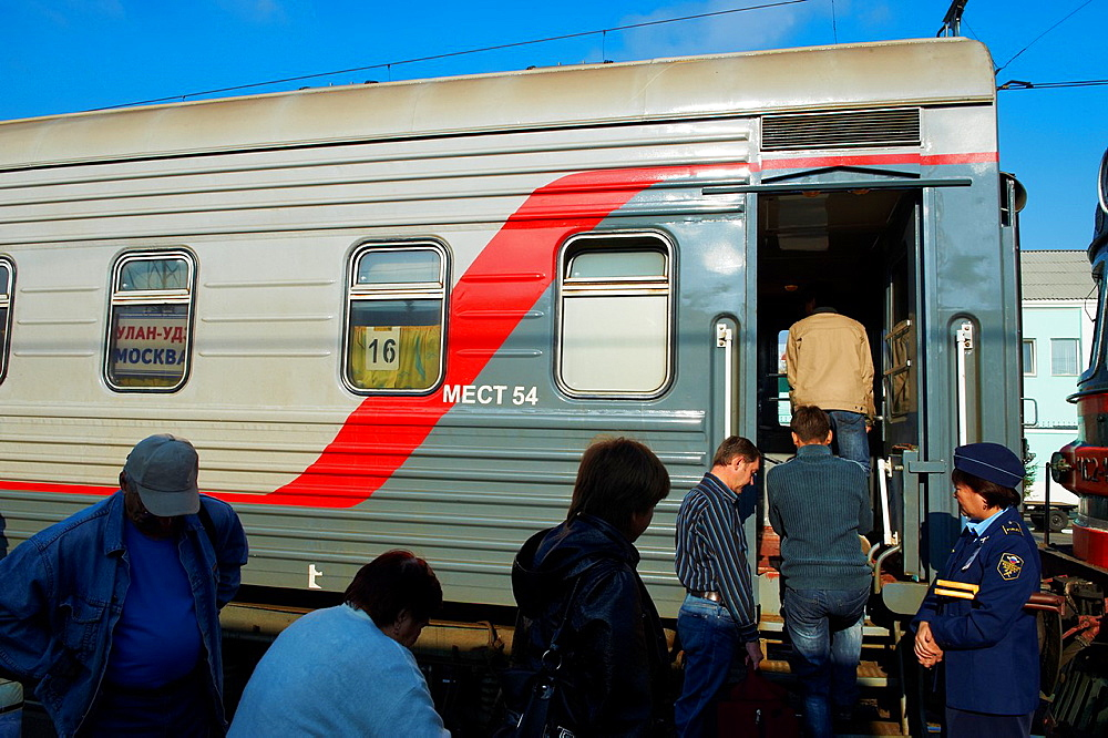 Russia, Siberia, Omsk, Railway station, on the Trans-Siberian trail
