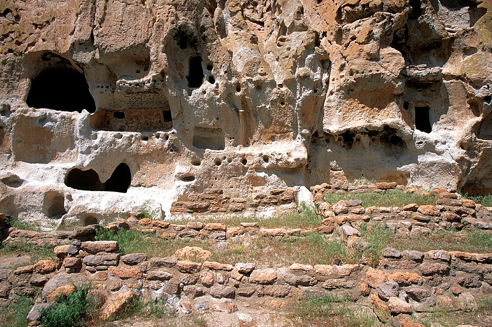Anasazi cliff dwellings in Bandelier National Monument, New Mexico, USA