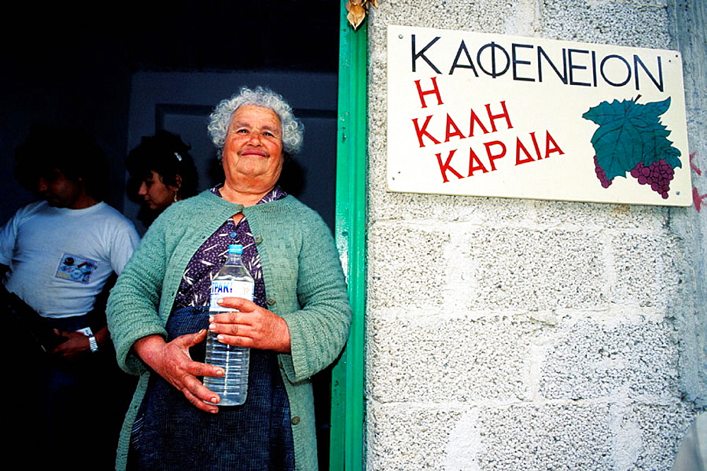 Small village local grocery owner, Crete, Greece
