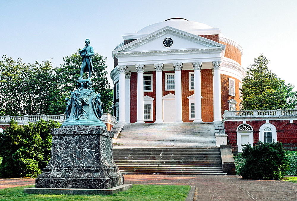 The University of Virginia at Charlottesville, Virginia, USA The Rotunda building designed by Thomas Jefferson