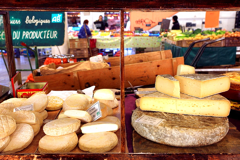 Inside market of Forville in Cannes, Alpes-Maritimes, Cote dAzur, Provence-Alpes-Côte dAzur, France