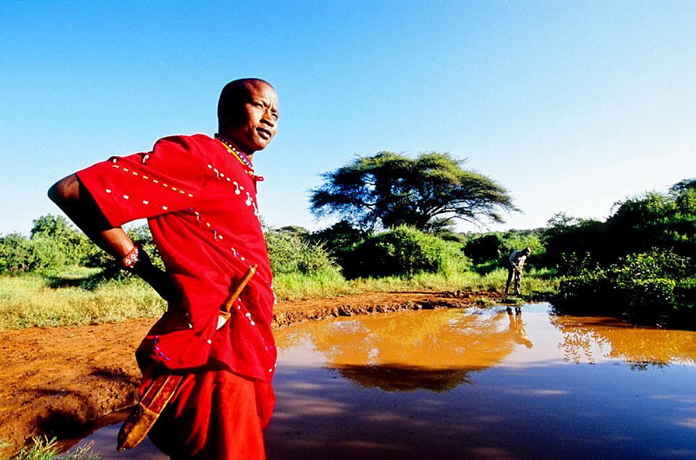 James Ole, Kinyaga senior tour guide and manager, Safari in Laikipia Masai Community Conservancy Park (Il Ngwesi), Kenya - 817-26320