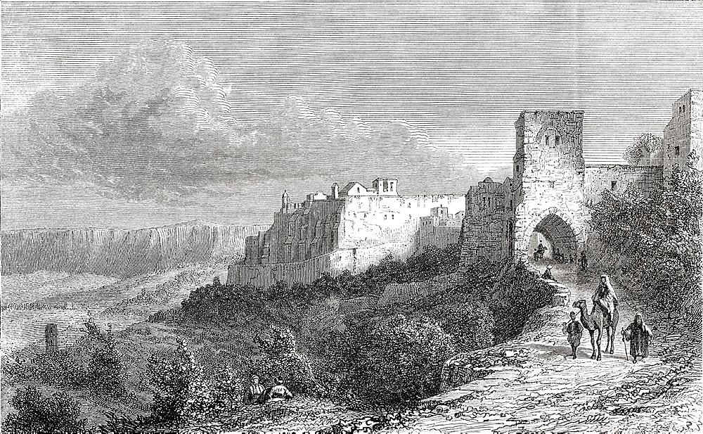 Bethlehem, Palestine in the 19th century From El Mundo en la Mano published 1875
