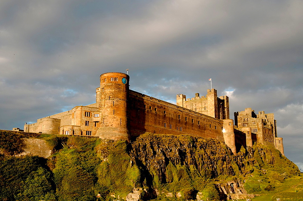 Bamburgh Castle in Berwick Upon Tweed, England, UK