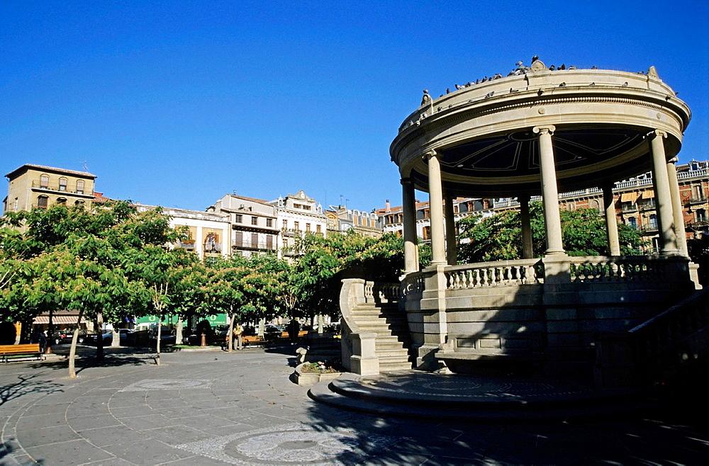 Gazebo in the Plaza del Castillo, Pamplona, Spain