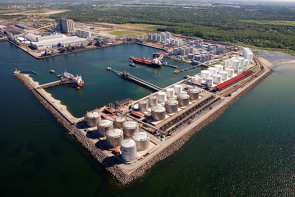 Aerial View of Port of Tallinn at Muuga, Estonia, Europe