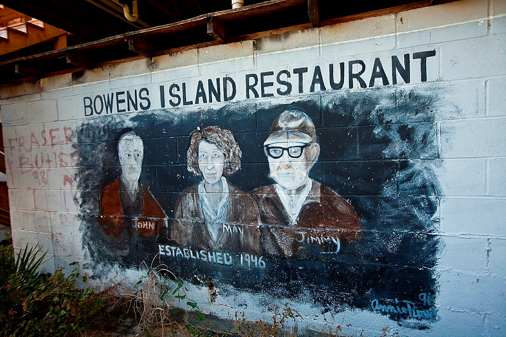 Customer graffiti on the walls at Bowens Island restaurant along the Folly River, Charleston, SC