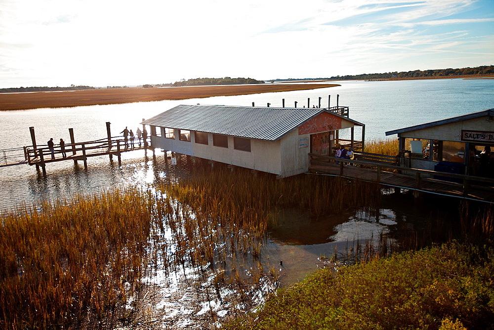 Bowens Island restaurant along the Folly River, Charleston, SC