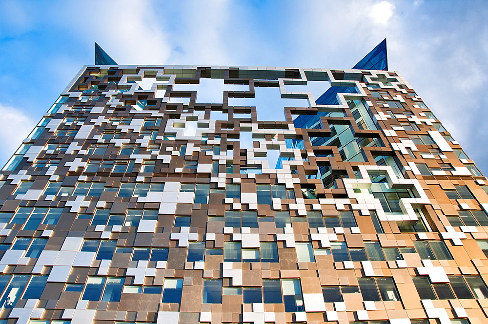 The newly built The Cube building, in Birmingham, UK